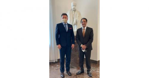 Chamber speaker of deputies of parliament of Czech Republic meets Qatar's Ambassador