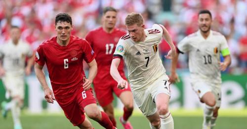De Bruyne leads Belgium to 2-1 comeback Euro 2020 win over Denmark