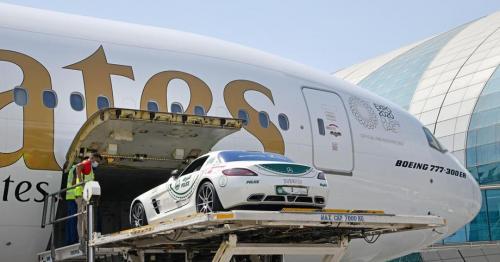 Dubai Police supercar flown to Italy for Thousand Miles classic car race