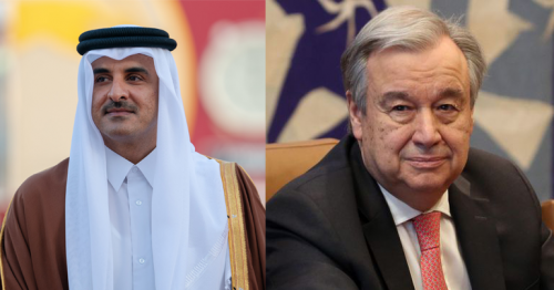 HH the Amir congratulates Antonio Guterres for being re-appointed as UN's secretary-general