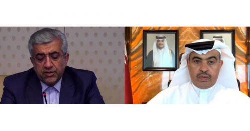 Industry Minister meets Iran's Energy Minister via video platform