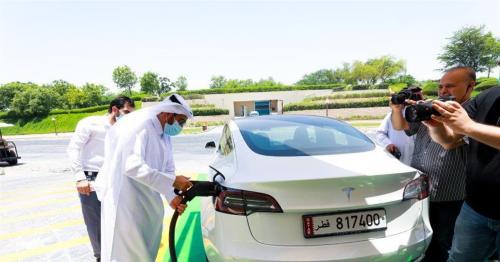 Kahramaa installs fastest electric car charger in Qatar at Katara