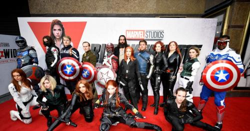 'Black Widow' screening rolls out the red carpet for London film fans