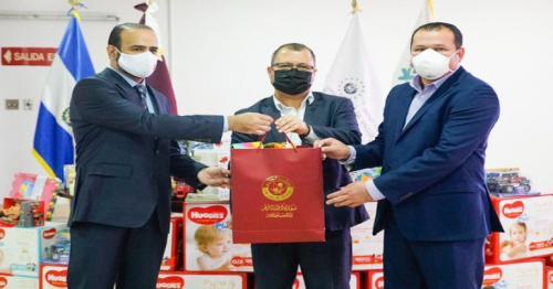 Qatar Envoy offers medical aids to children in El Salvador
