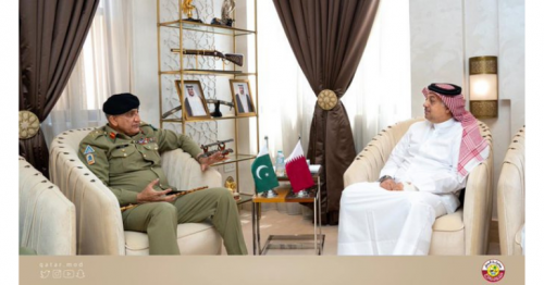 Deputy PM and Defense Minister Meets Pakistani Chief of Staff