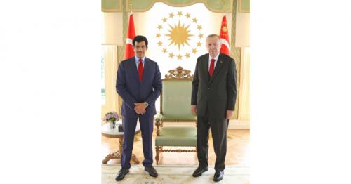 President of Turkey meets Qatar Envoy