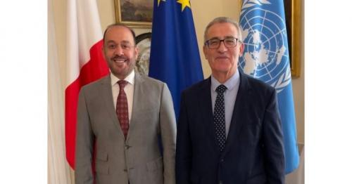 FM of Malta meets Acting Charges d'Affaires of the Embassy of Qatar