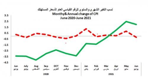 Slight Decrease in Consumer Price Index in June 2021