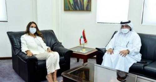 Lebanese Deputy PM and Minister of Defense Meets Qatar Envoy